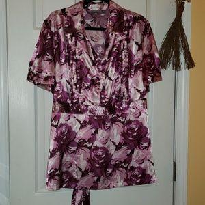 Blouse Apt. 9 purple,pink,white and black size 3x